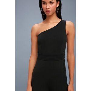 c0cad5d7799e Lulu s Pants - Dance  til Daylight Black One-Shoulder Jumpsuit M